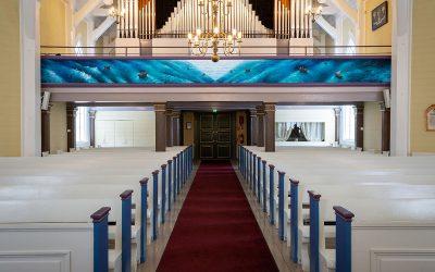 Samuli Heimosen kirkkomaalaukset valmistuivat (Juttu vain tilaajille)