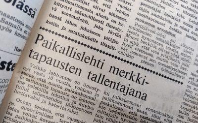 Koko kylän oma lehti syntyi 60 vuotta sitten tiedottamisen tarpeesta